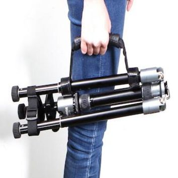Adjustable and quick-release velcro black tripod carrying strip and fixed buckle strap SC274