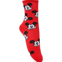 With Love From CA Mickey Mouse Boot Socks - Womens Scarves - Red - One
