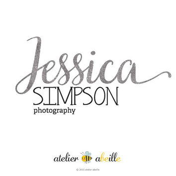 Premade Logo Design Text Only Logo Silver Logo Photography Logo Etsy Shop Logo Website Logo Blog Logo Silver Text Logo Design Business Logo