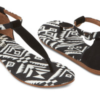 BLACK WOVEN PLAYA SANDALS