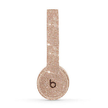 Beats Solo 3 Wireless, Custom Beats by Dre, Crystal Beats by Dre, Bling Beats, Custom Beats earphones, Beats by Dre Rose Gold