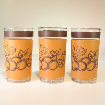 Dominion Glass Old Orchard glasses, Set of 3