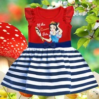 Details about Baby Girls Kids Clothes Summer Snow White Party Princess Dress 1-6Yrs