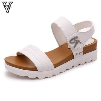 Fashion Sandals Women Summer Shoes Slip-On shoes woman Platform Sandals waterproof female shoes comfortable zapatos mujer X600