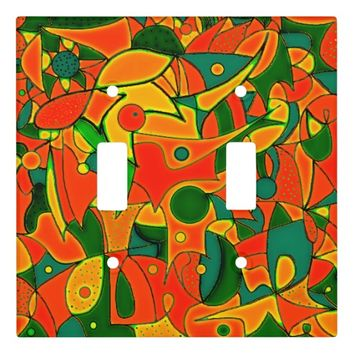 Color Jungle Red Inspiration Light Switch Cover