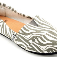 Corkys Girl's Sues Zebra Slip-On Shoes
