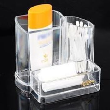 1PC Cosmetic Storage Organizer Makeup Display Rack Eyebrow Pencil Holder (Size: 13.5cm by 9.5cm by 11cm, Color: Transparent) [8361352071]