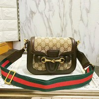 Day-First™ Gucci Women Leather Shoulder Bag Crossbody Satchel G-AGG-CZDL
