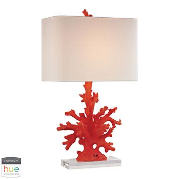 Red Coral Table Lamp in Red - with Philips Hue LED Bulb/Dimmer