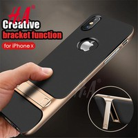 360 Protective Case For iPhone X Cover Kickstand PC+TPU