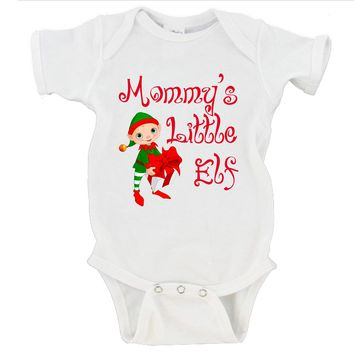 Mommy's Little Elf Merry Christmas Gerber Onesuit ®