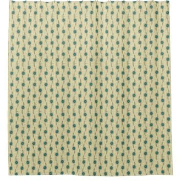 Signature Turquoise Abstract Dots Pattern Shower Curtain