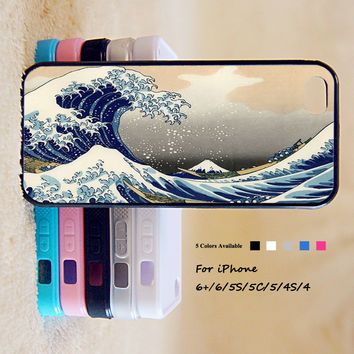 Great Wave Off Kanagawa Case For iPhone 6 Plus For iPhone 6 For iPhone 5/5S For iPhone 4/4S For iPhone 5C iPhone X 8 8 Plus