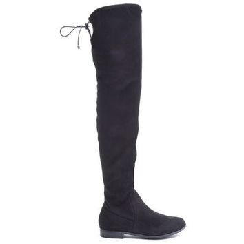 ONETOW Chinese Laundry Rainey - Black Suede Over-the-knee Boot