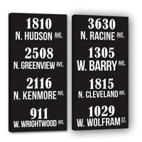 Two Bus Roll SUBWAY Sign Art Destination roll 16x32 inch Canvas Ready to Hang