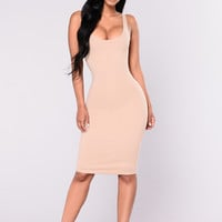 Julia Bodycon Dress - Nude