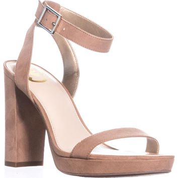 Circus by Sam Edelman Annette Heeled Sandals, Golden Caramel, 7.5 US / 37.5 EU, Golden Caramel, 7.5 US / 37.5 EU