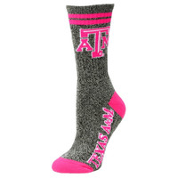 Texas A&M Aggies Women's Marble Medium 504 Socks – Gray/Pink