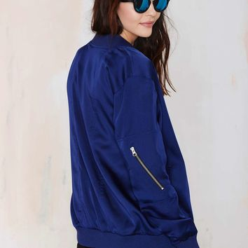 Nasty Gal Aviation Bomber Jacket
