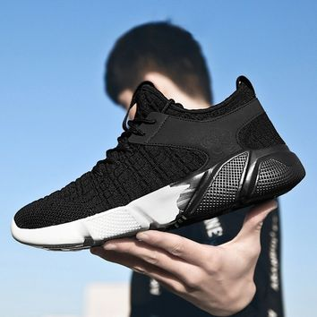 Men Sneakers Running Shoes Breathable Light Sports Fitness Trainers