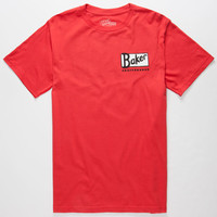 Baker Cheers Mens T-Shirt Red  In Sizes