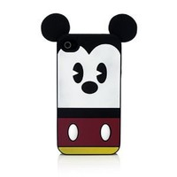 Disney IP1654 Character Suit Silicone Case for iPhone 4/4S - 1 Pack - Retail Packaging - Mickey