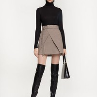 MORRIS HIGH WAIST BELTED SKIRT