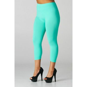 Plus 3/4 Leggings