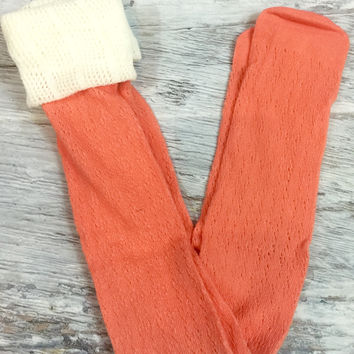 KEEP IT CHIC BOOT SOCKS IN CORAL
