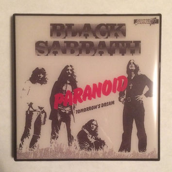 BLACK SABBATH Single Paranoid/Tomorrow's Dream Record Cover Ceramic Tile Coaster