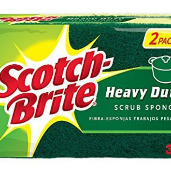 Scotch-Brite Heavy Duty Scrub Sponge, 2 Count (Pack of 6)