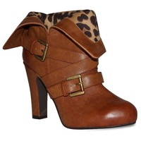 Dolce by Mojo Moxy Dizzy Women's Fold-Over High Heel Ankle Boots