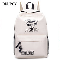 DDUPCY 2017 New Fashion One Piece Luffy School Bags Anime Bookbag Chirdren Teenagers Backpack Men Women Shoulder Bag