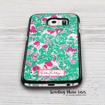 Dog Yard - Lilly Pulitzer Samsung Galaxy S6 Case Cover for S6 Edge S5 S4 Case