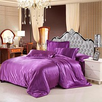 Classic Silk Feel Satin Bedding Sets