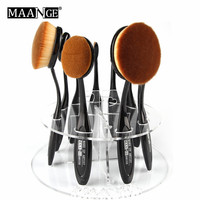 MAANGE Acrylic 10 holes toothbrush Makeup Cosmetic Brushes Pen Dryer Holder Stand Storage organnizor display tower tree rack