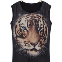 'The Nailah' Tiger Printed Sleeveless Tee