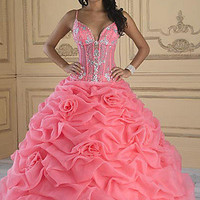House of Wu Quinceañera Dress, Corset Style Ball Gowns- PromGirl