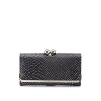 Kiss-Lock Metallic Gator Checkbook Wallet by Charlotte Russe