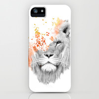 If I roar (The King Lion) iPhone & iPod Case by Budi Satria Kwan