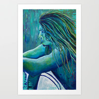 Contemplative Art Print by Sophia Buddenhagen