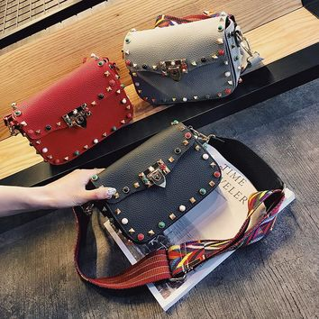 High Quality PU Leather Small Flap Women Bag