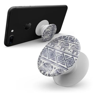 Sacred Elephant Pattern - Smartphone Extendable Grip & Stand Skin Kit