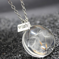 Handmade Dandelion Wish Necklace Gift 128