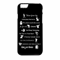 Disney Lessons Learned Mashup iPhone 6 Plus Case