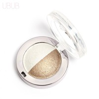 UBUB Double Color Professional Nude Eyeshadow Palette Makeup Shimmer Eye Shadow Palette 12 Colors Make Up Glitter Eyeshadow