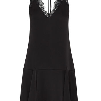Mamie Lace-Trimmed Mini Dress