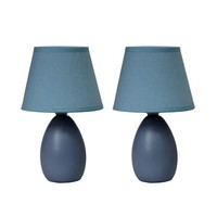 Simple Designs Mini Egg Oval Ceramic Table Lamp 2-Pack Set - Walmart.com