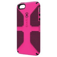 Speck Products CandyShell Grip Case for iPhone 5 & 5S  - Raspberry/Black