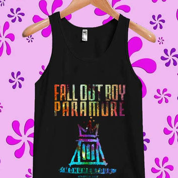 fall out boy paramore Galaxy Tanktop, Tanktop Men, Tanktop Women, Tanktop Girl, Men Tanktop, Girl Tanktop